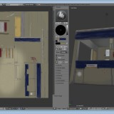 The UV maps, plus live preview of the texture in progress.